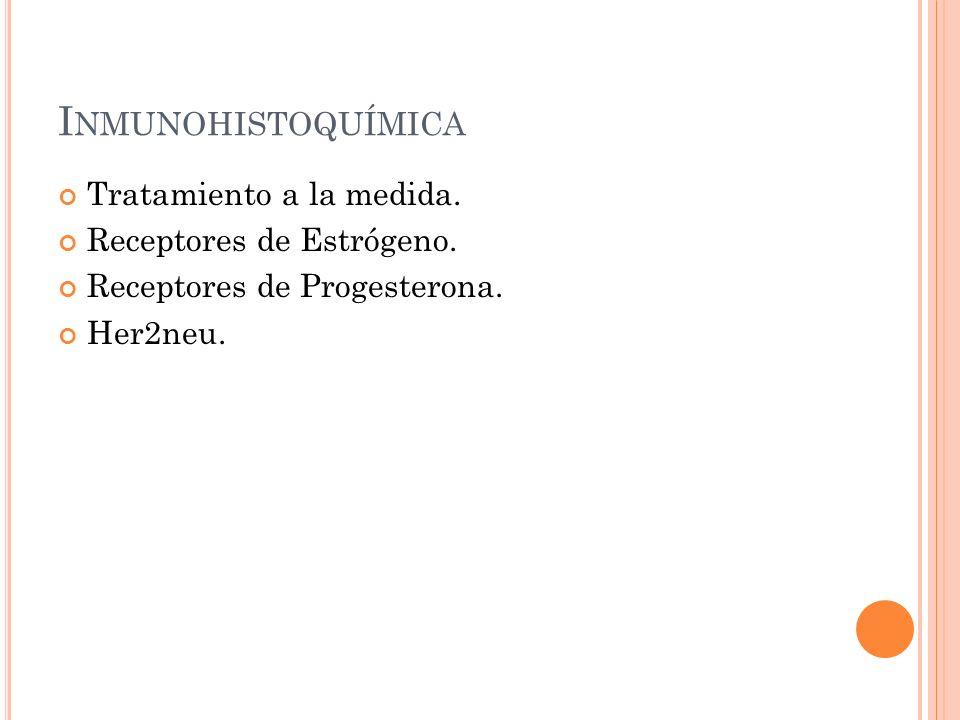 Inmunohistoquímica Tratamiento a la medida. Receptores de Estrógeno.