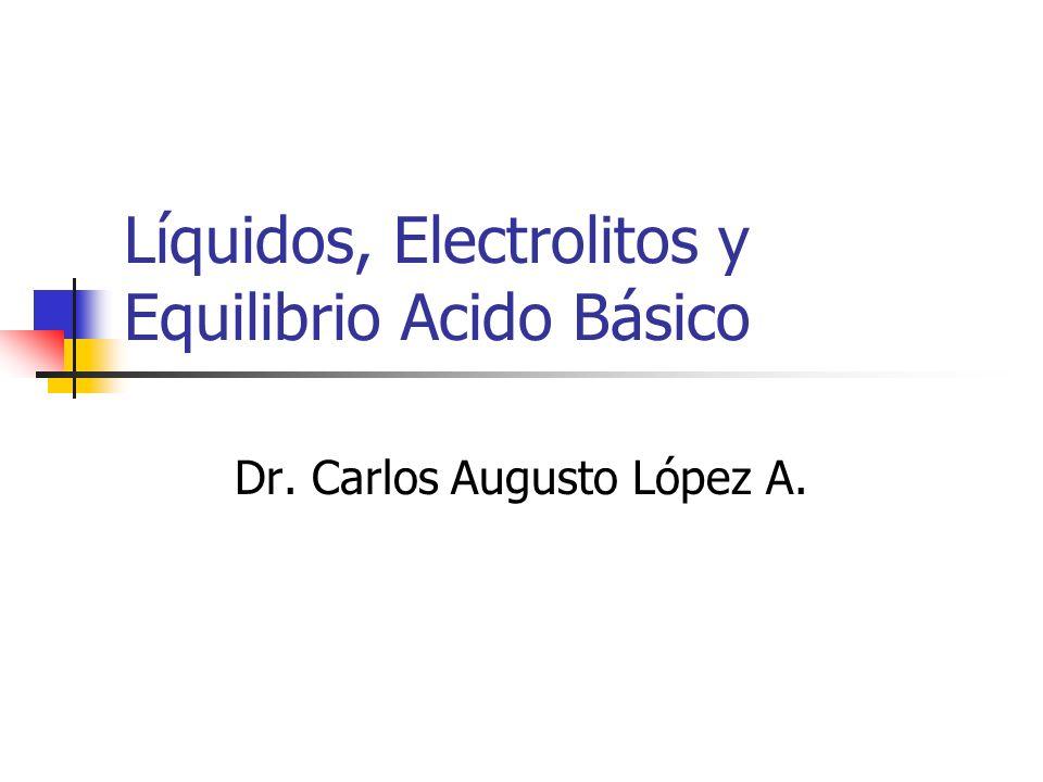 Líquidos, Electrolitos y Equilibrio Acido Básico