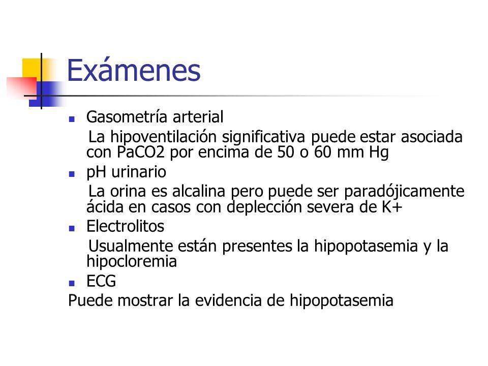 Exámenes Gasometría arterial