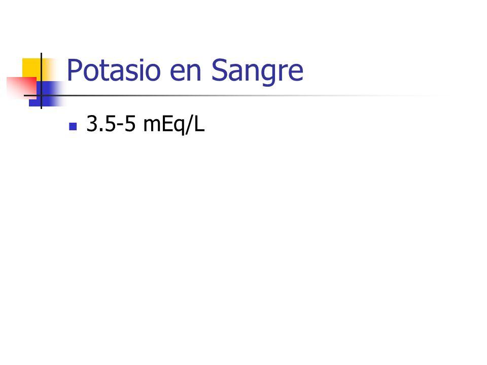 Potasio en Sangre 3.5-5 mEq/L