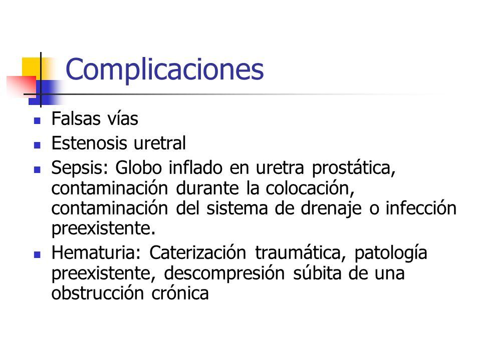 Complicaciones Falsas vías Estenosis uretral