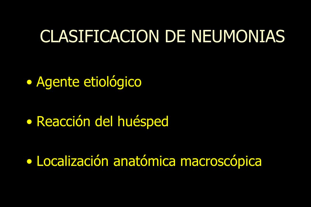 CLASIFICACION DE NEUMONIAS