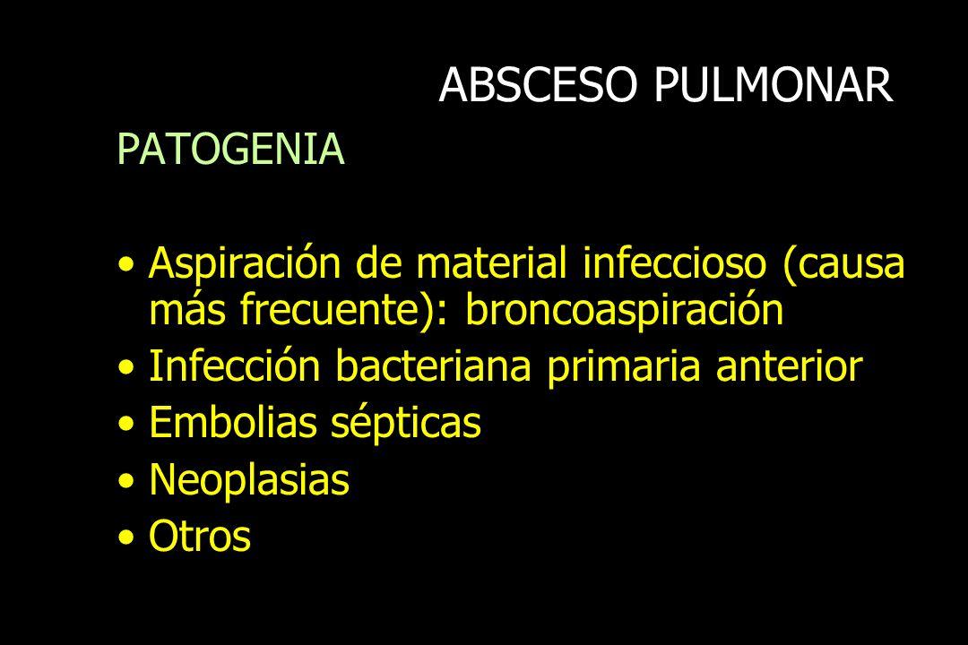 ABSCESO PULMONAR PATOGENIA