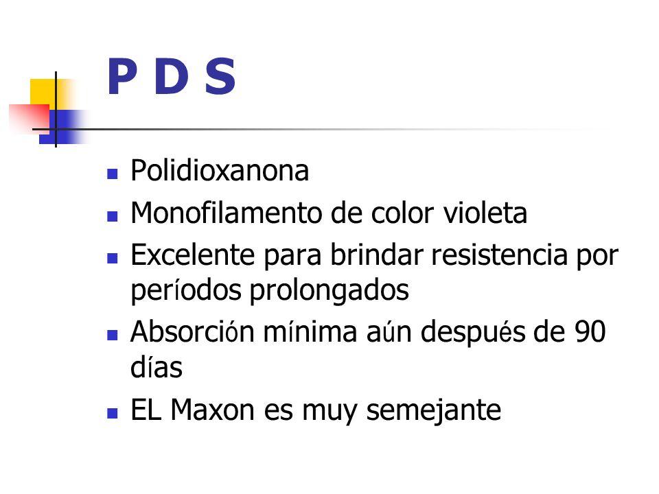 P D S Polidioxanona Monofilamento de color violeta