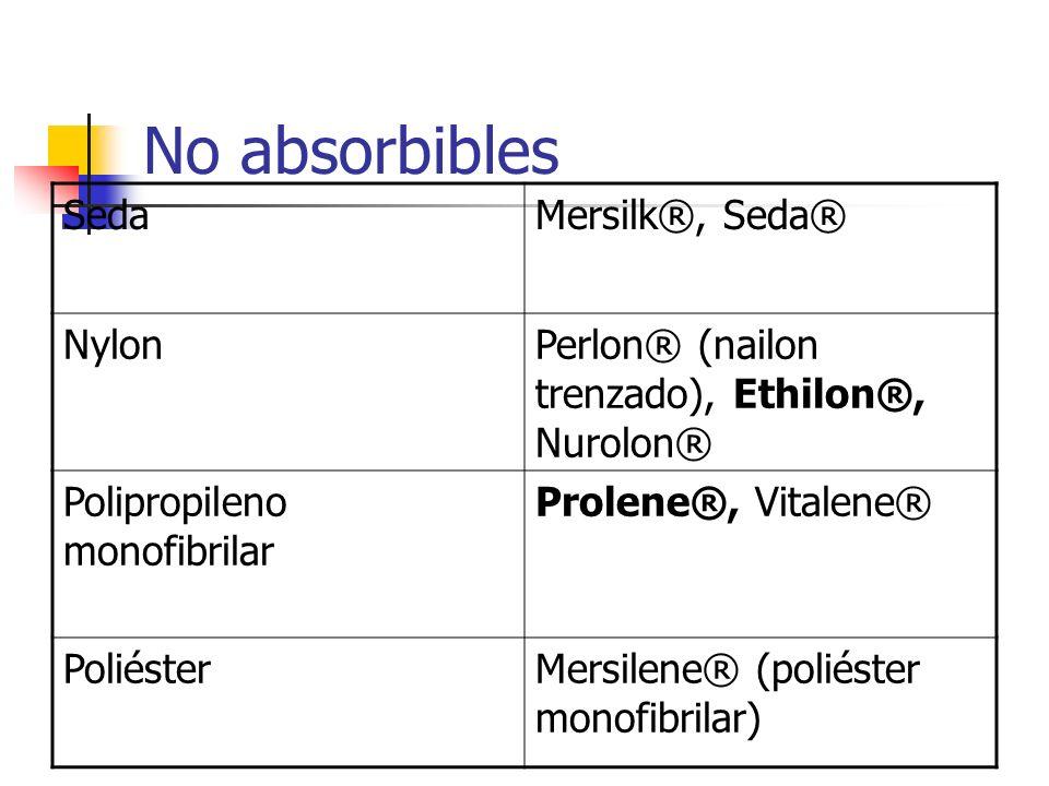 No absorbibles Seda Mersilk®, Seda® Nylon
