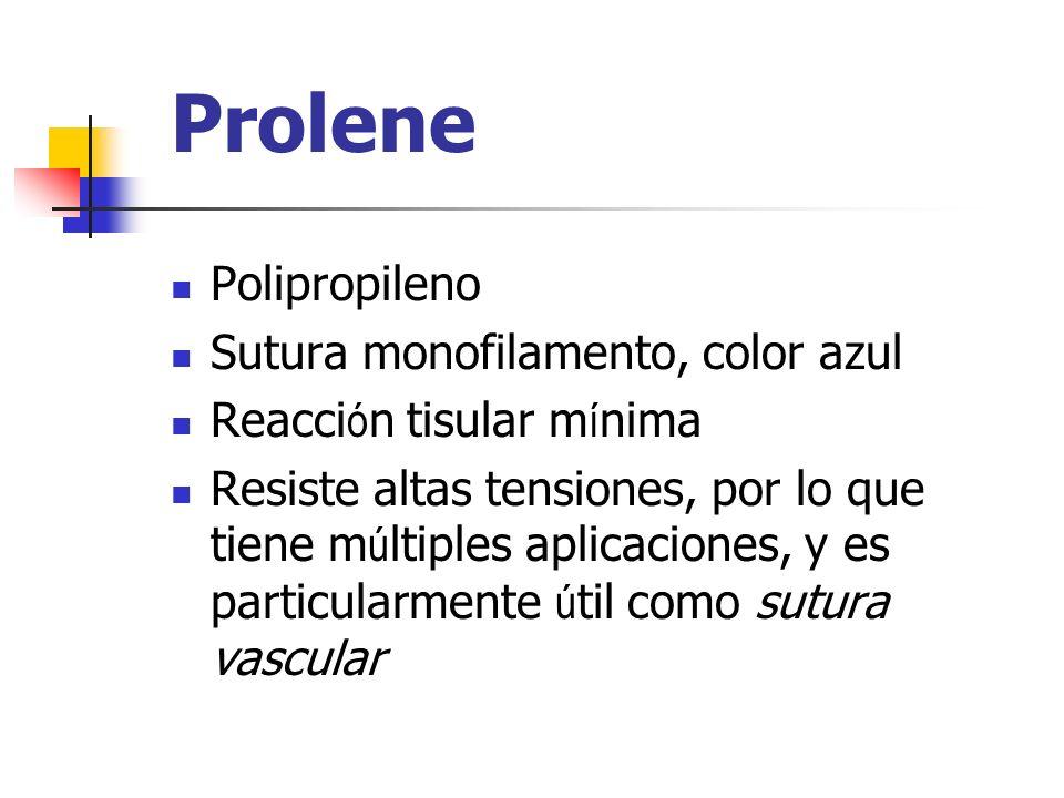 Prolene Polipropileno Sutura monofilamento, color azul
