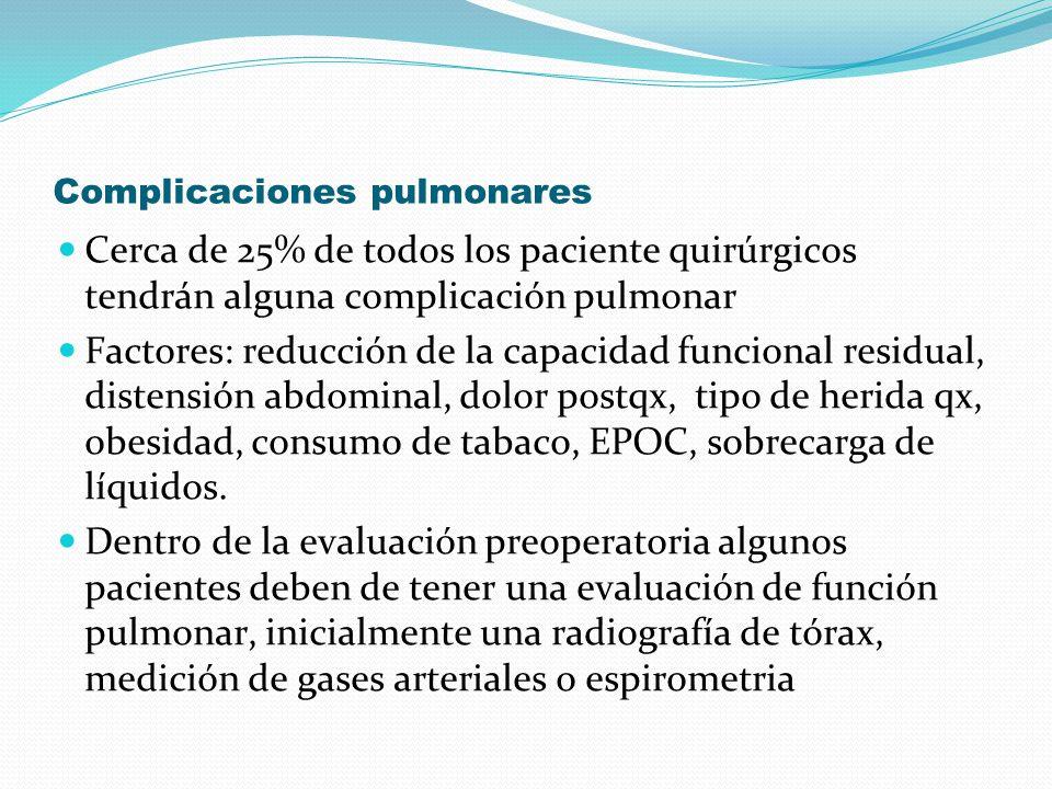Complicaciones pulmonares