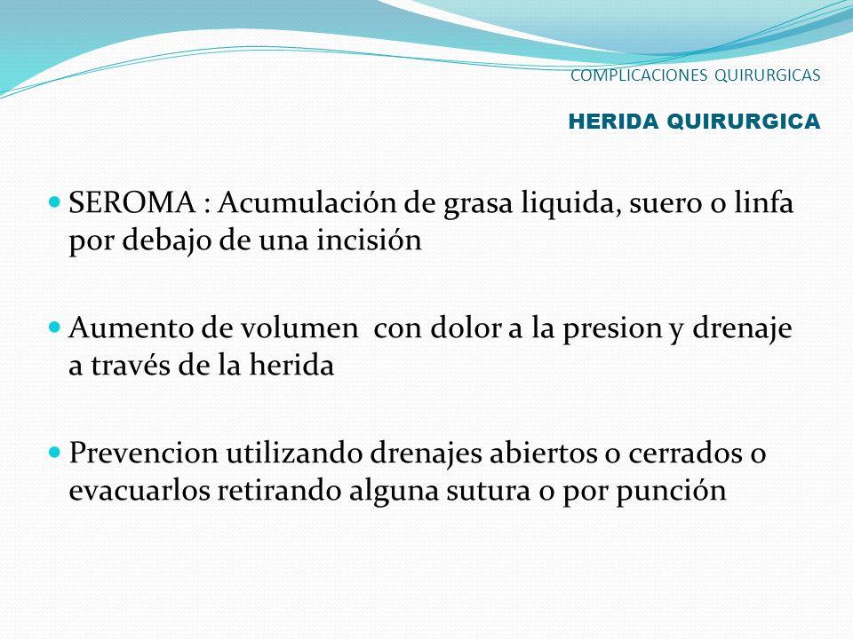 COMPLICACIONES QUIRURGICAS HERIDA QUIRURGICA