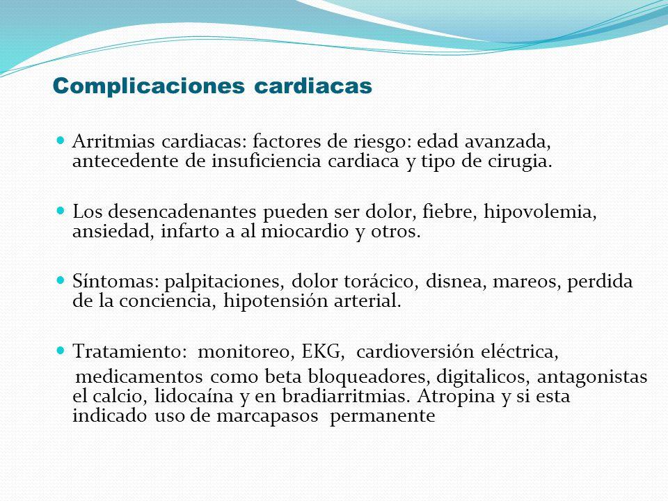 Complicaciones cardiacas