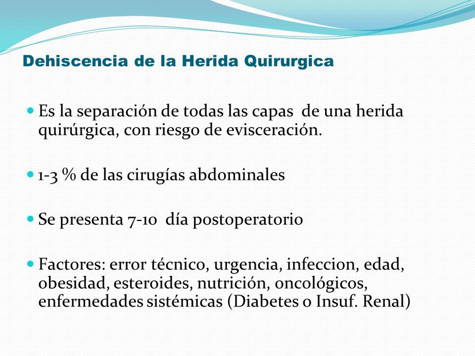 Dehiscencia de la Herida Quirurgica
