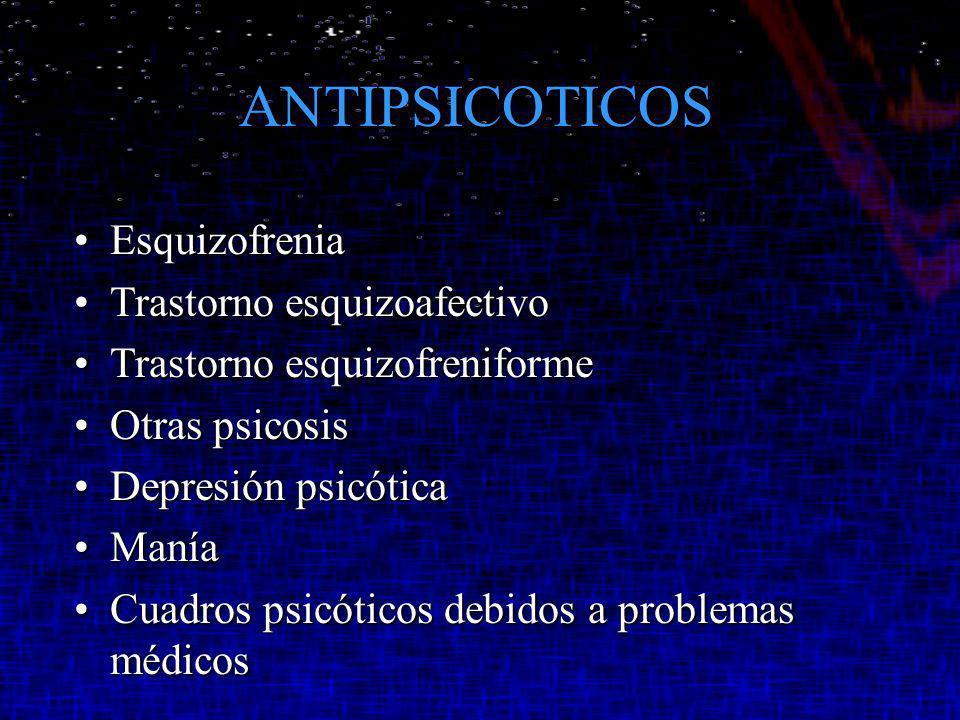 ANTIPSICOTICOS Esquizofrenia Trastorno esquizoafectivo