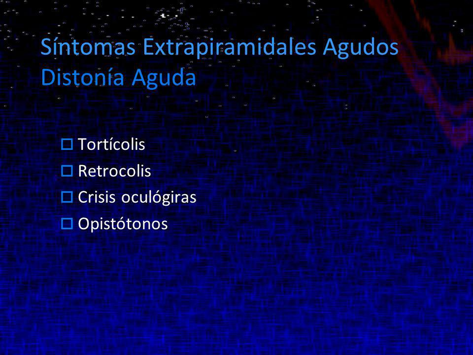 Síntomas Extrapiramidales Agudos Distonía Aguda