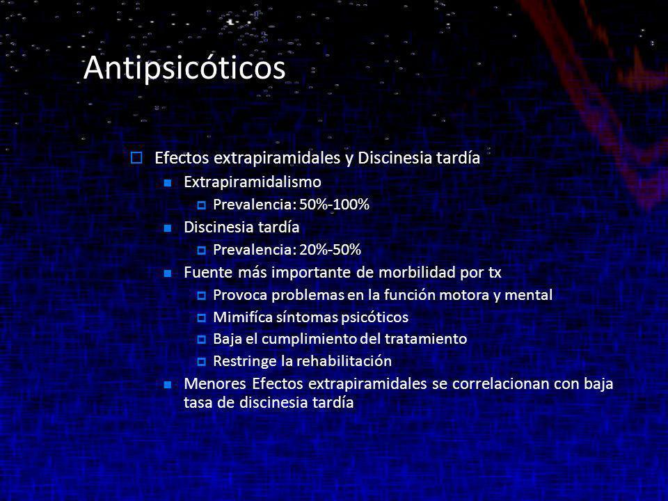 Antipsicóticos Efectos extrapiramidales y Discinesia tardía