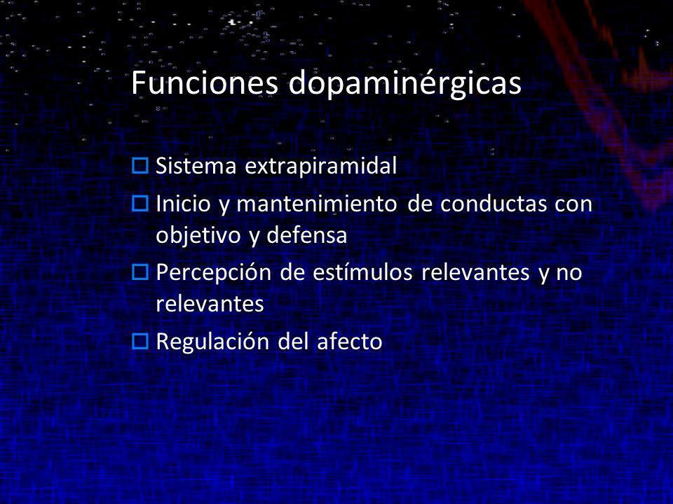 Funciones dopaminérgicas