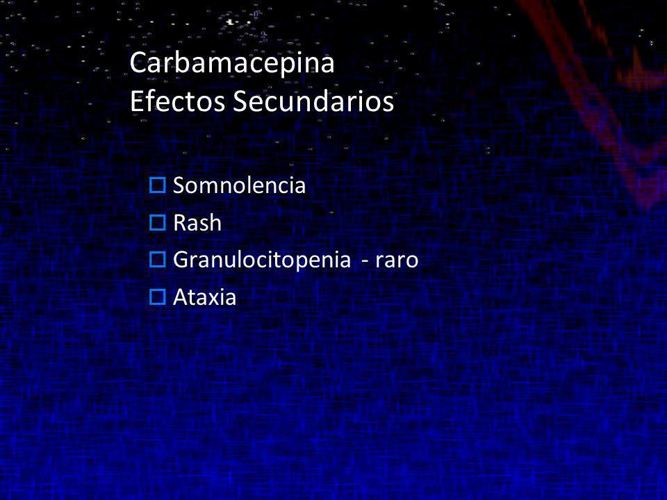 Carbamacepina Efectos Secundarios