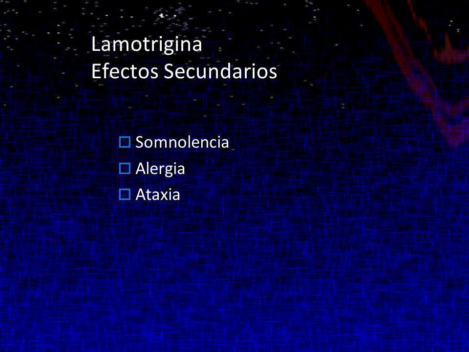Lamotrigina Efectos Secundarios