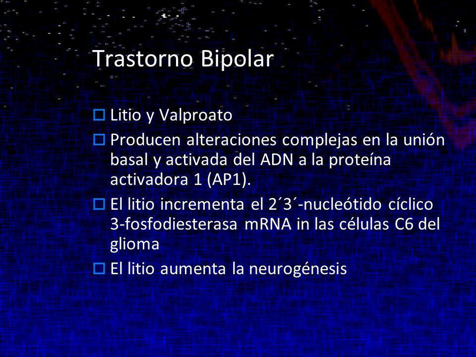 Trastorno Bipolar Litio y Valproato