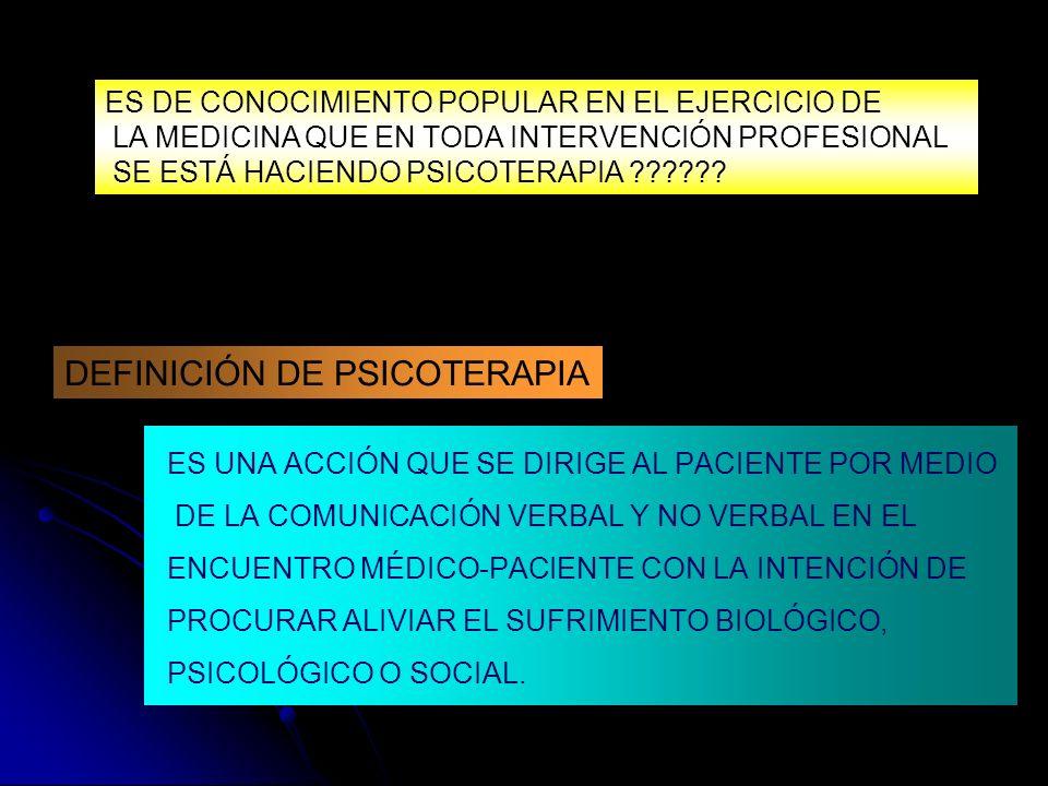 DEFINICIÓN DE PSICOTERAPIA