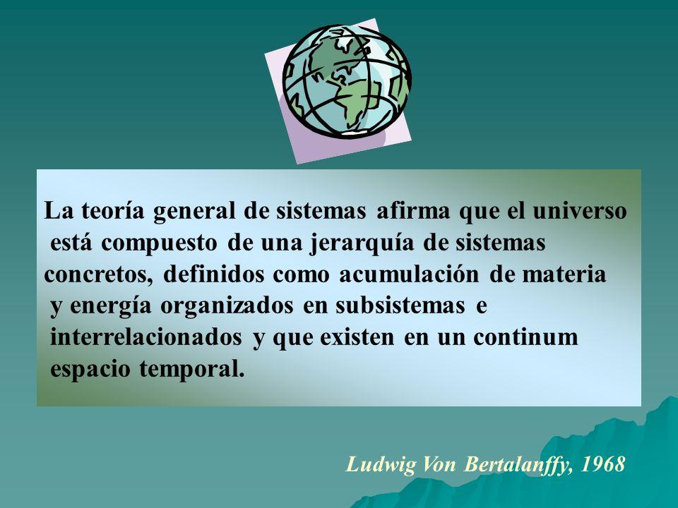 La teoría general de sistemas afirma que el universo