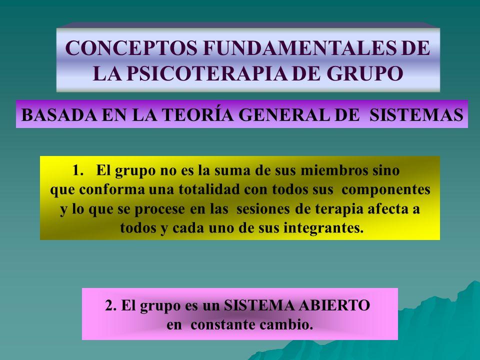CONCEPTOS FUNDAMENTALES DE LA PSICOTERAPIA DE GRUPO