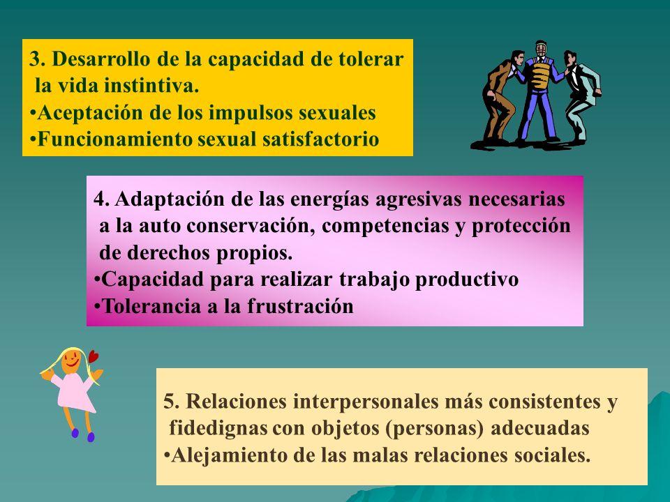 3. Desarrollo de la capacidad de tolerar