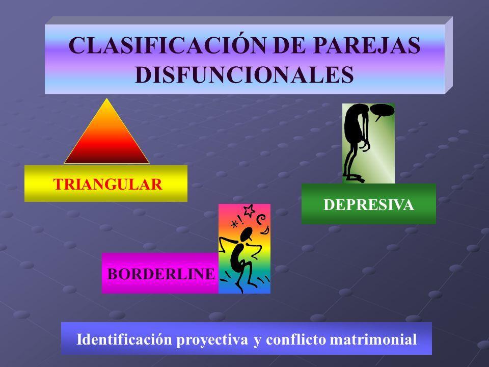 CLASIFICACIÓN DE PAREJAS DISFUNCIONALES