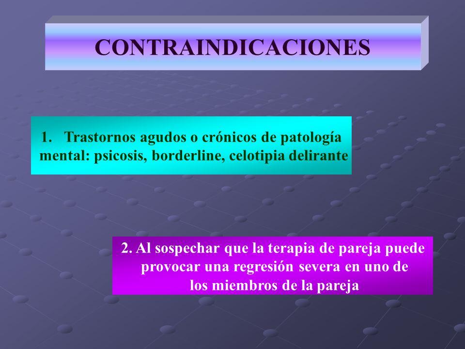 CONTRAINDICACIONES Trastornos agudos o crónicos de patología