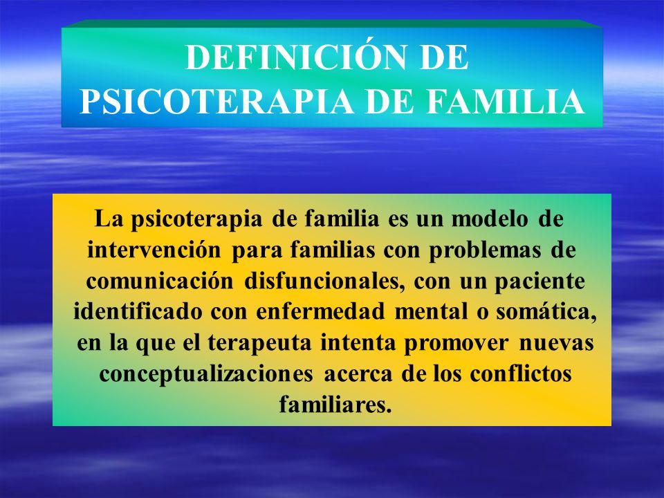 DEFINICIÓN DE PSICOTERAPIA DE FAMILIA