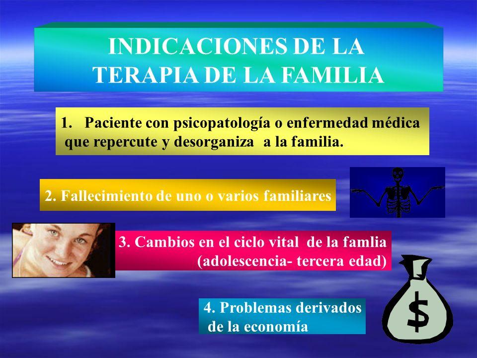 INDICACIONES DE LA TERAPIA DE LA FAMILIA