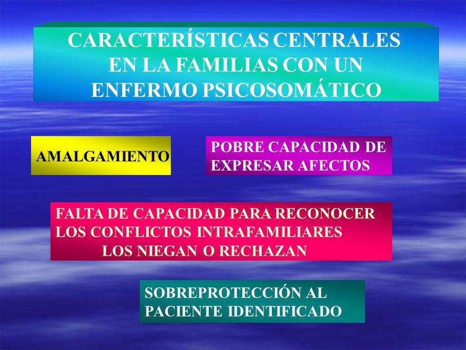 CARACTERÍSTICAS CENTRALES ENFERMO PSICOSOMÁTICO