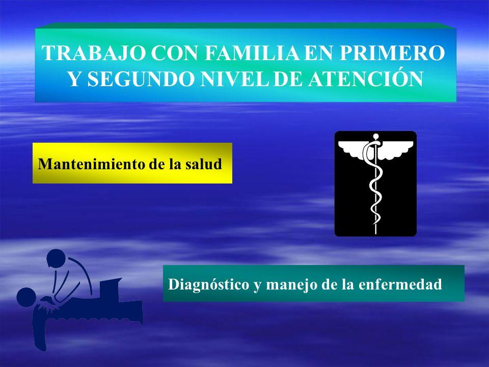 TRABAJO CON FAMILIA EN PRIMERO Y SEGUNDO NIVEL DE ATENCIÓN