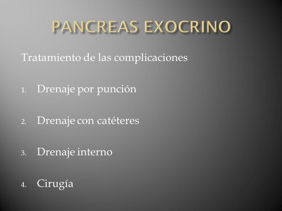 PANCREAS EXOCRINO Tratamiento de las complicaciones