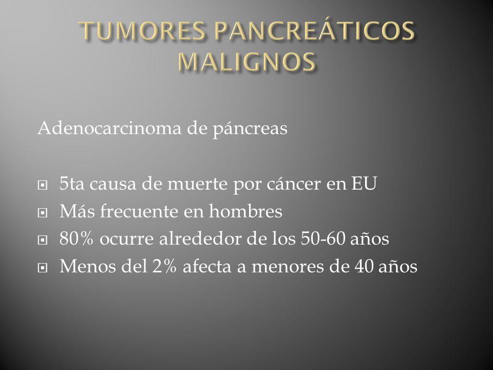 TUMORES PANCREÁTICOS MALIGNOS