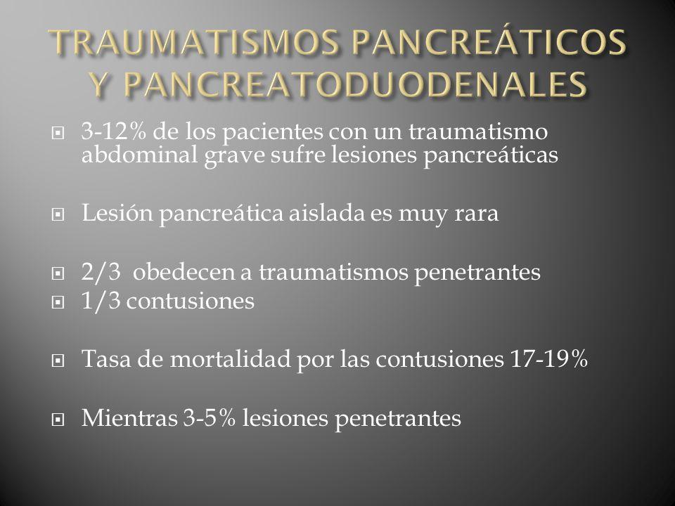 TRAUMATISMOS PANCREÁTICOS Y PANCREATODUODENALES