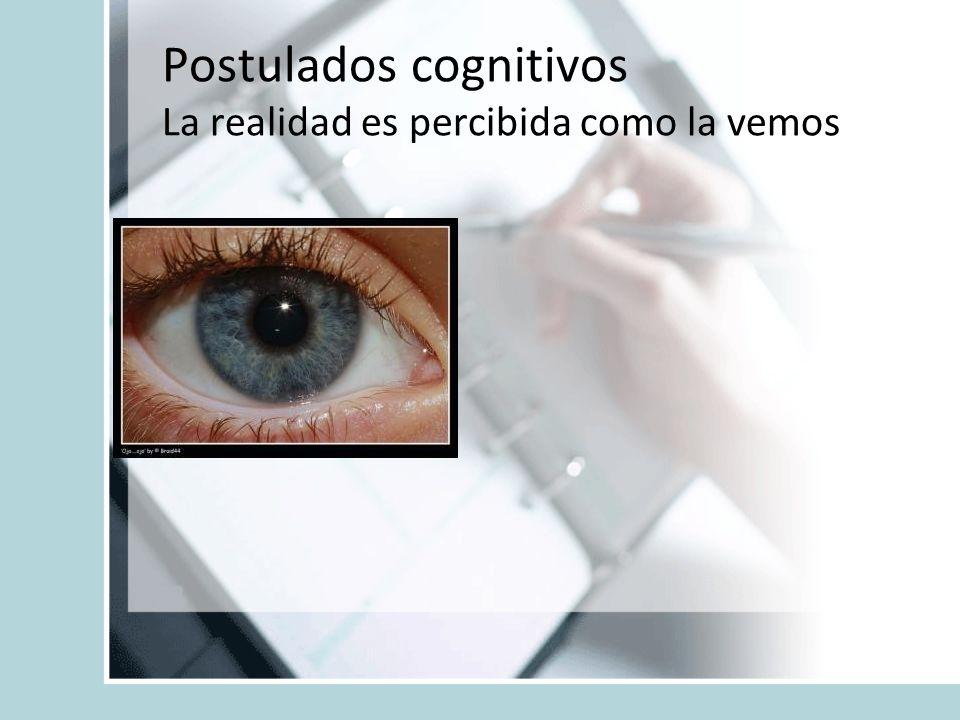 Postulados cognitivos La realidad es percibida como la vemos