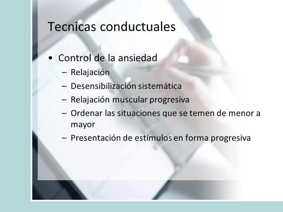 Tecnicas conductuales