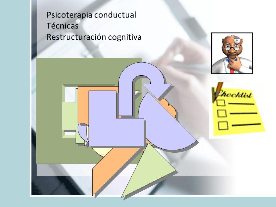 Psicoterapia conductual Técnicas Restructuración cognitiva