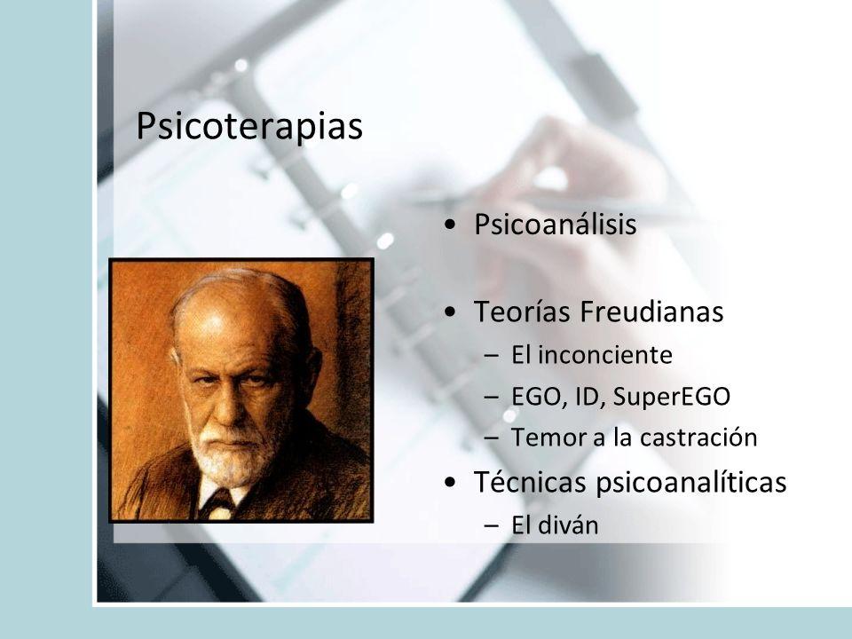 Psicoterapias Psicoanálisis Teorías Freudianas