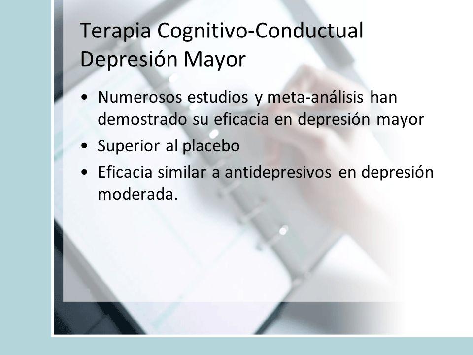 Terapia Cognitivo-Conductual Depresión Mayor