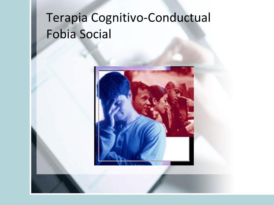 Terapia Cognitivo-Conductual Fobia Social
