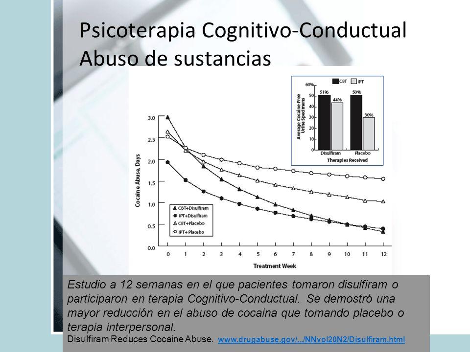 Psicoterapia Cognitivo-Conductual Abuso de sustancias