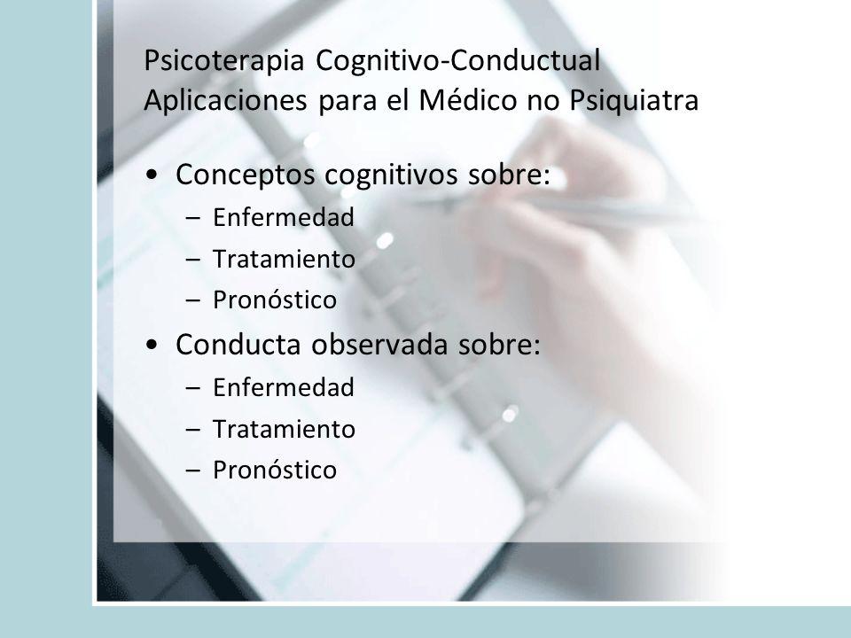 Conceptos cognitivos sobre: