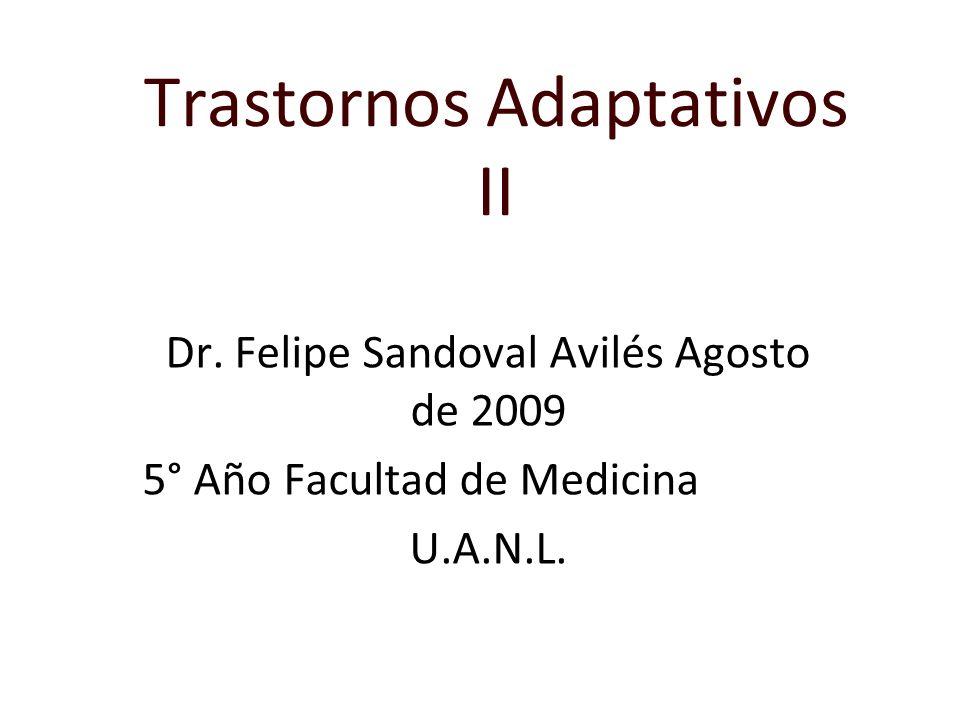 Trastornos Adaptativos II