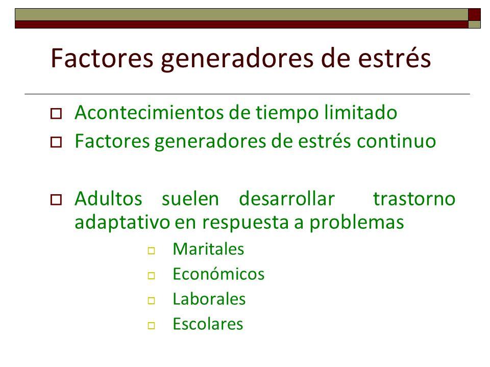 Factores generadores de estrés