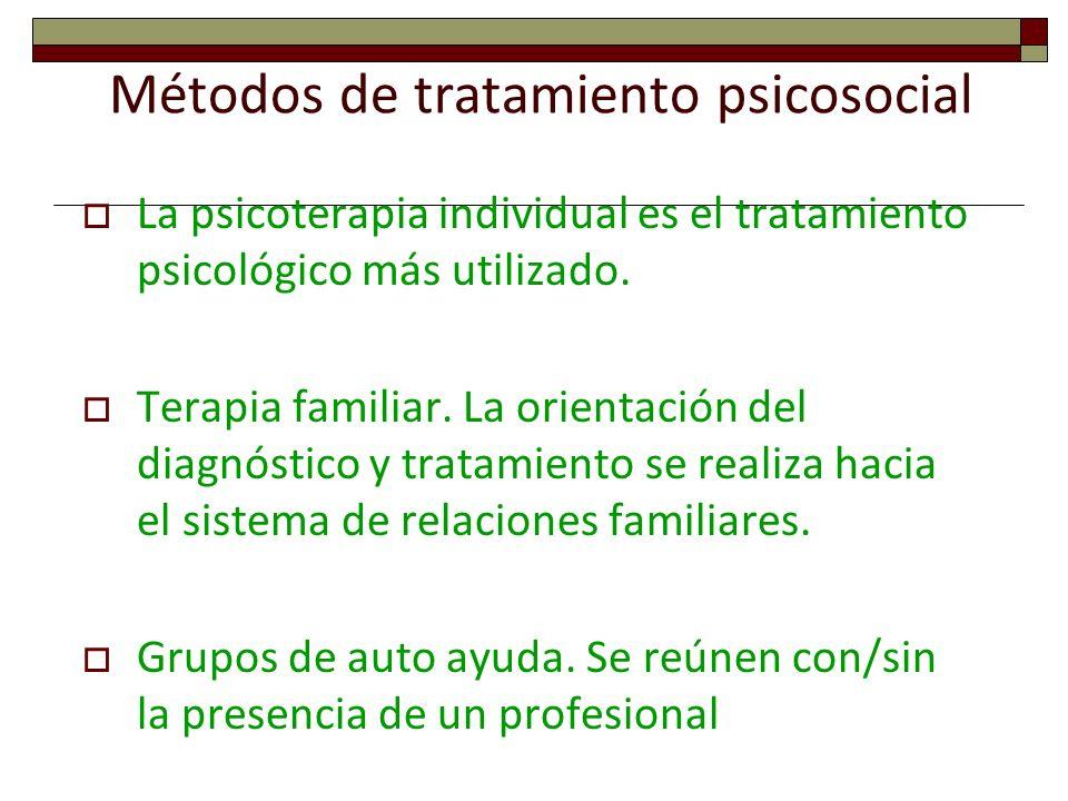 Métodos de tratamiento psicosocial