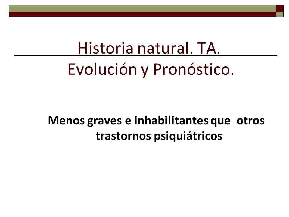 Historia natural. TA. Evolución y Pronóstico.