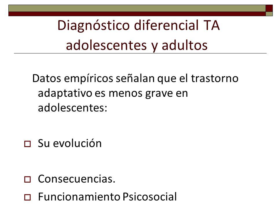 Diagnóstico diferencial TA adolescentes y adultos