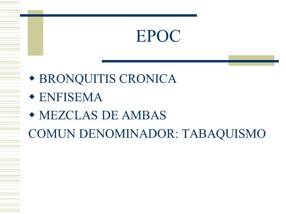 EPOC BRONQUITIS CRONICA ENFISEMA MEZCLAS DE AMBAS