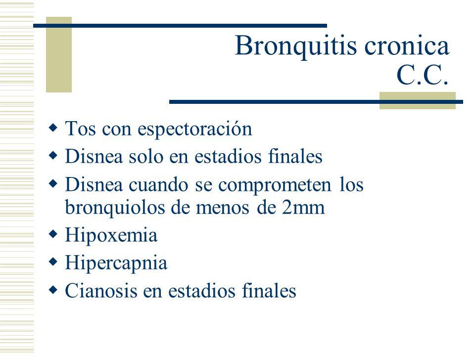 Bronquitis cronica C.C. Tos con espectoración
