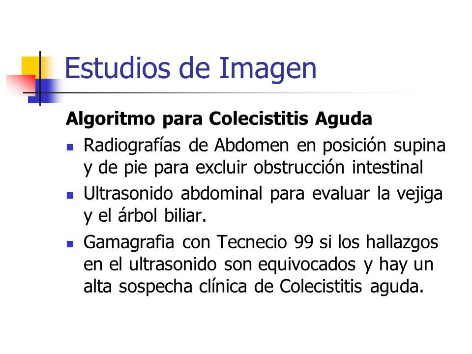 Estudios de Imagen Algoritmo para Colecistitis Aguda